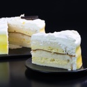 Mango Fresh Cream Gateau-slice