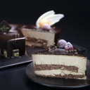 Chocolate Mousse Cake (Heart shape with Glossy finish)-slice