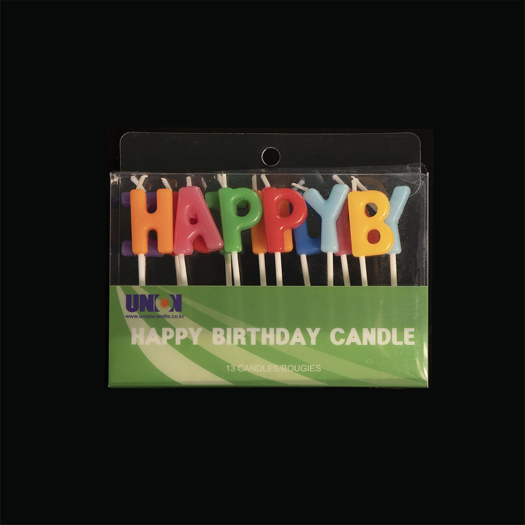 Word Candle (Happy Birthday)